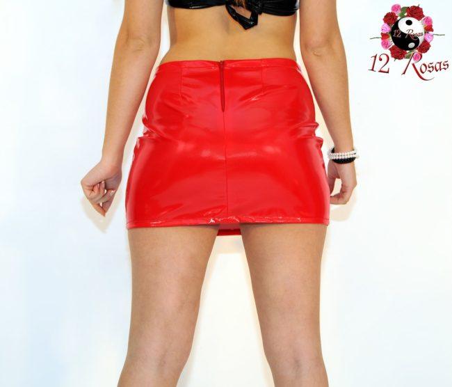 Minifalda Magnolia Rojo trasero
