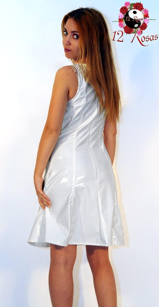 Vestido Rosan Blanco trasero