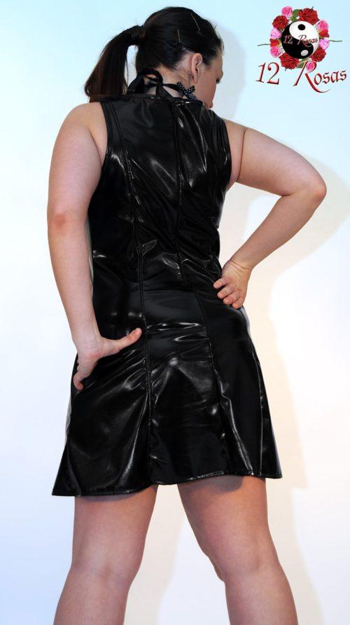 Vestido Rosan Negro trasero