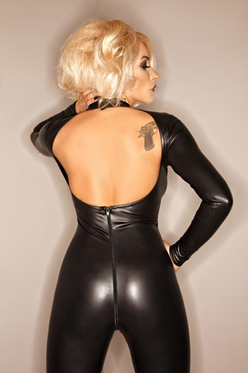F052 Catsuit Wetlook