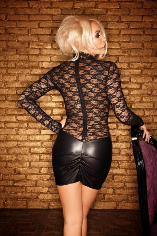 F062 Vestido Wetlook BACK