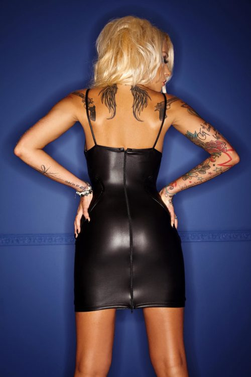 Vestido corto Wetlook BACK