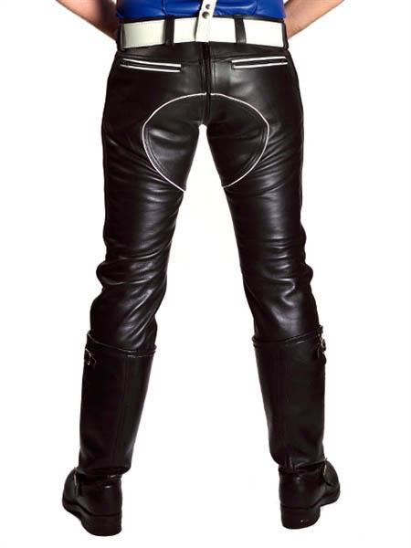 FXXXer Jeans de cuero