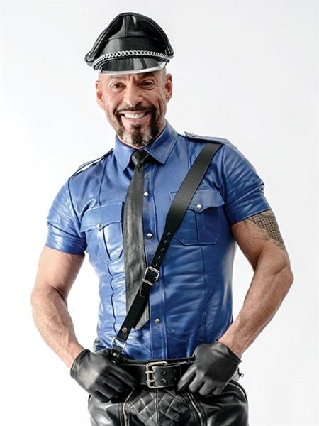 Camisa de policia Police Shirt Blue