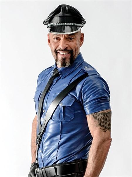 Camisa de policia Police Shirt Blue side