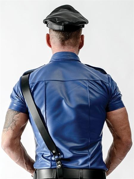 Camisa de policia Police Shirt Blue back