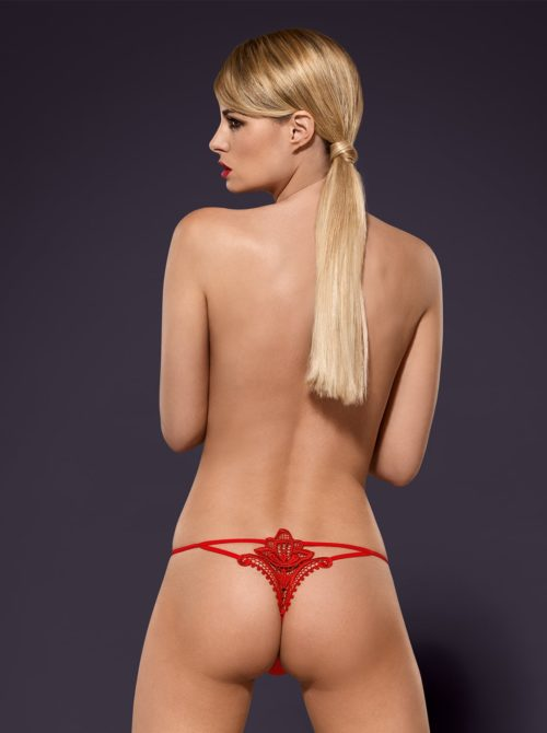 Luiza thong red back