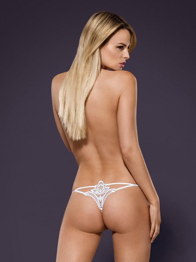 Luiza thong white back